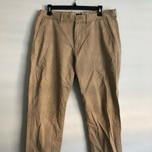 J Crew Tan Slim Fit Chinos (33x32)
